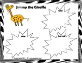 Jimmy the Giraffe Writing Activity