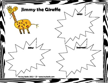 Jimmy the Giraffe Writing Activity