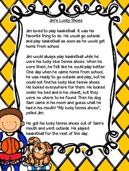 Jim's Lucky Shoes: A short passage with TRC writing prompts