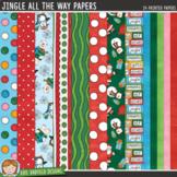 "Christmas Digital Papers: ""Jingle All the Way"""