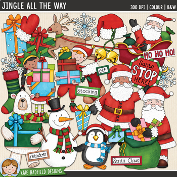 "Christmas Clip Art: ""Jingle All The Way"""