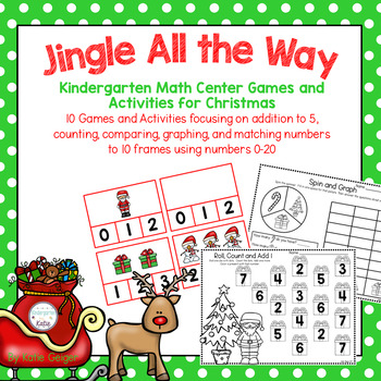 Jingle All the Way: Kindergarten Math Center Games and Activities for Christmas
