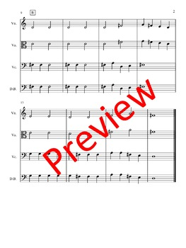 Jingle Bells - Arrangement for Beginning String Orchestra