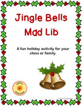 Jingle Bells Christmas Mad-Lib-Like Parts of Speech Activity