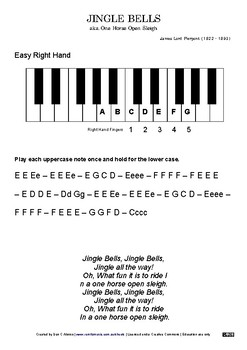 Jingle Bells - Easy Sheet Music - 3 versions