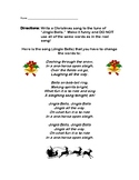 Jingle Bells Holiday Song Writing Poetry Christmas Activit