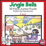 Jingle Bells Jumbo Color-by-Dynamics Music Puzzle Activity