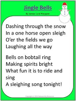 Jingle Bells Lesson Plan Christmas Pack