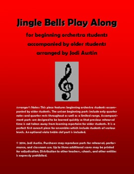 Jingle Bells Play Along (sheet music for mixed level orchestra)