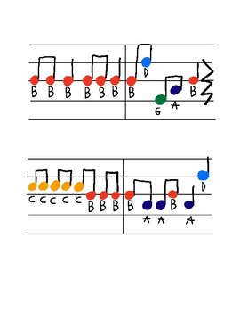 Jingle Bells for Recorder *Color Coded*