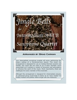 Jingle Bells for Saxophone Quartet