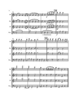 Jingle Bells for Woodwind Quartet