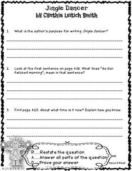 Jingle Dancer Close Reading Unit 2nd Grade Reading Street 6.5