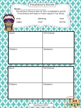 Jingle Dancer Reading Street Reading Comprehension Activity Packet