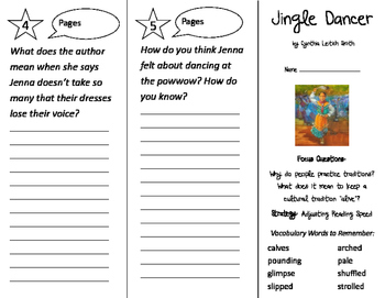 Jingle Dancer Trifold - Imagine It 2nd Grade Unit 6 Week 4