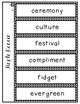 Jingle Dancer vocabulary flap book