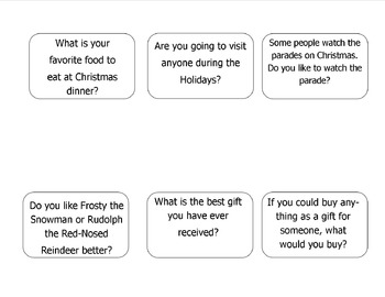 Jingle Jab Christmas/ Holiday Conversation Starters