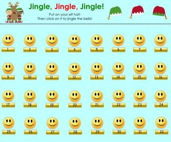 """Jingle, Jingle, Jingle"" Elf Hat SMART Board Attendance Activity w/ SOUND"