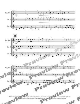 Jingle Tango (sheet music for mixed level guitar ensemble)