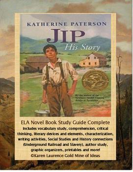 Jip: His Story by Katherine Paterson ELA Novel Literature