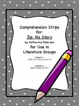 Jip Novel Study Comprehension Strips