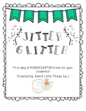 Jitter Glitter First day of school gift