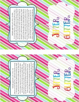 It's just a photo of Universal Jitter Glitter Poem Printable