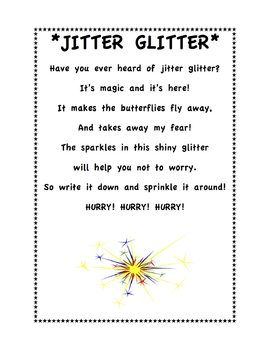 Juicy image in jitter glitter poem printable
