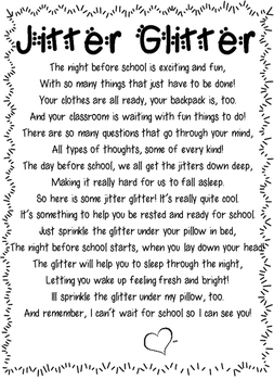 photo relating to Jitter Glitter Poem Printable identify Jitter Glitter Poem and Necklaces