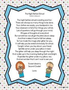Jitter Glitter Poems for Second Grade