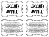 Jitter Glitter Tags- Black and White