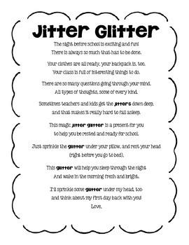 Jitter Glitter poem