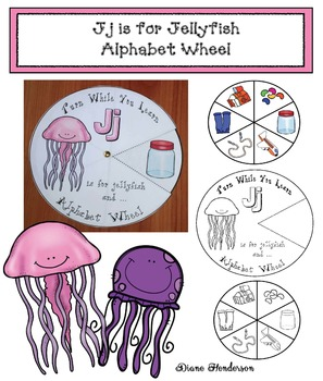 Jj is for Jellyfish Alphabet Wheel