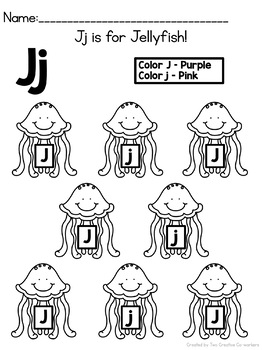Letter J { Alphabet Practice }