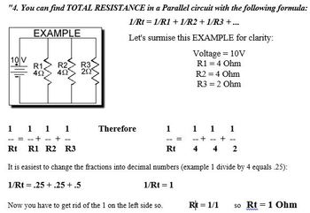 Jnr Science - Physics - Electrical Circuit Calculations
