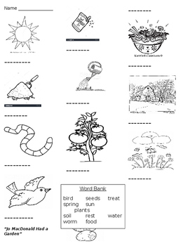 Jo MacDonald Had a Garden worksheet