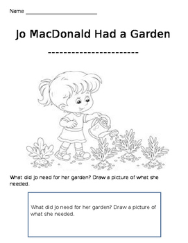 Jo MacDonald coloring sheet