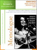 Women History - Joan Baez Singer, Songwriter, Musician, Activist (1941 -)