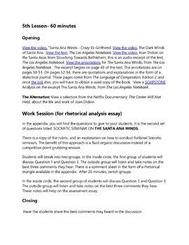 California Essays By Joan Didion Rhetorical Analysis Practice Tpt