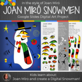 Joan Miró Snowmen Art Lesson - Interactive Google Slides -