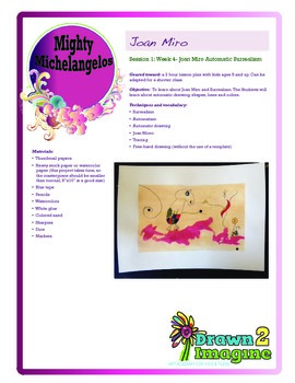 Joan Miro Art History - Art Lesson Plan