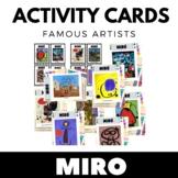 Joan Miró - Famous Artist Activity Cards - Art Unit - ENGL