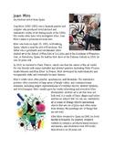 Joan Miro Info Sheet