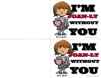 Joan-ly Without You Valentine's Day Card