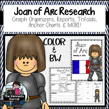 Joan of Arc Biography Research Bundle {Report, Trifold, & MORE!}