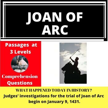 Joan of Arc Differentiated Reading Passage January 9
