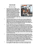 Joan of Arc - Informational Text Test Prep