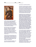 Joan of Arc Reading and Text-based questions