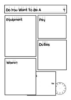 Job Advert Worksheet for Kids