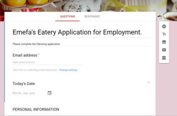 Job Application #2 Using Google Forms